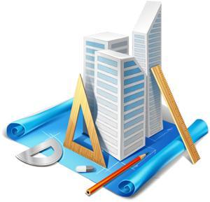 Макет и чертеж здания