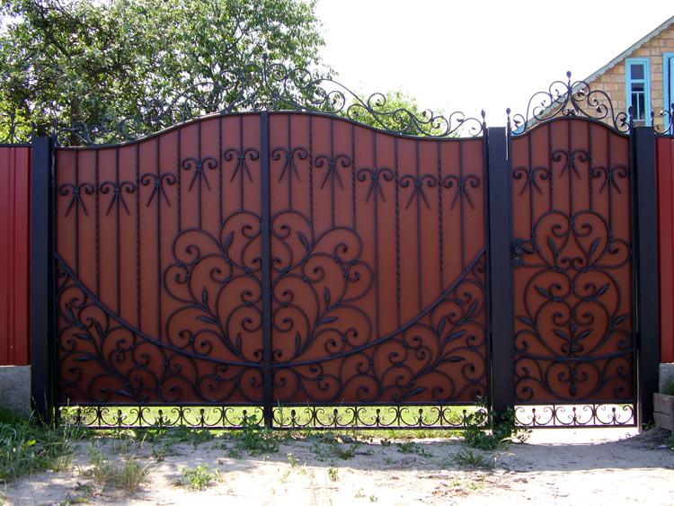 Узоры для ворот своими руками