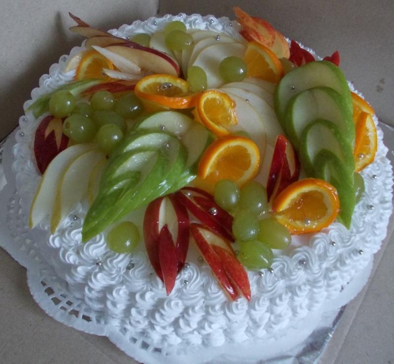 Украшение торта из фруктов своими руками 49